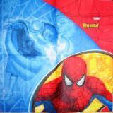 Spiderman fond jaune, rouge et bleu PM